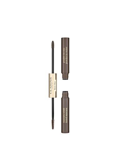 Clarins Brow Duo 04 Medium Brown Kaş Maskarası Renkli
